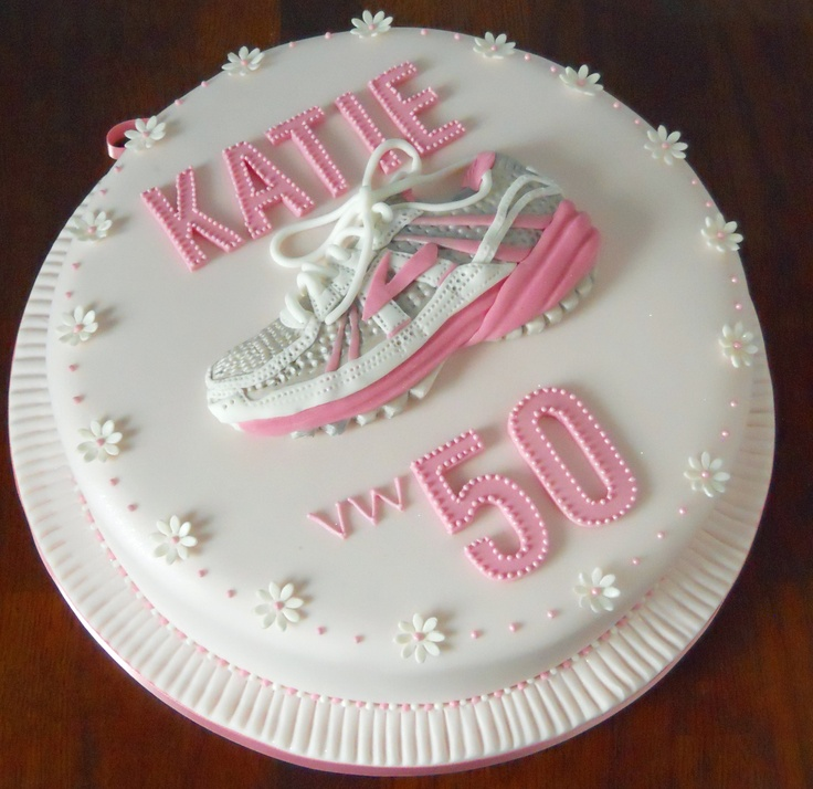 How To Make A Running Shoe Birthday Cake