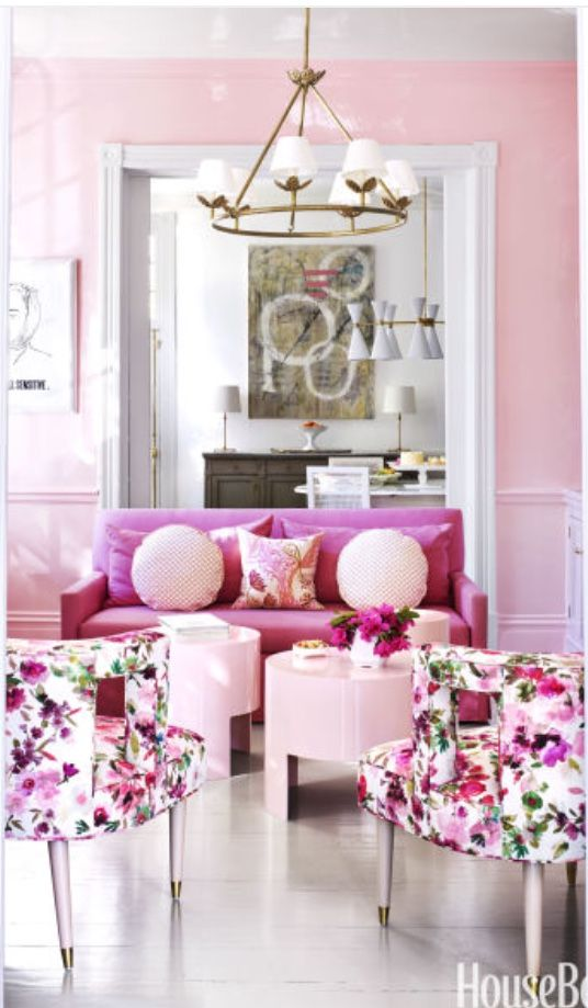 The 25 best Pink Rooms images on Pinterest | Pink room, Living rooms ...