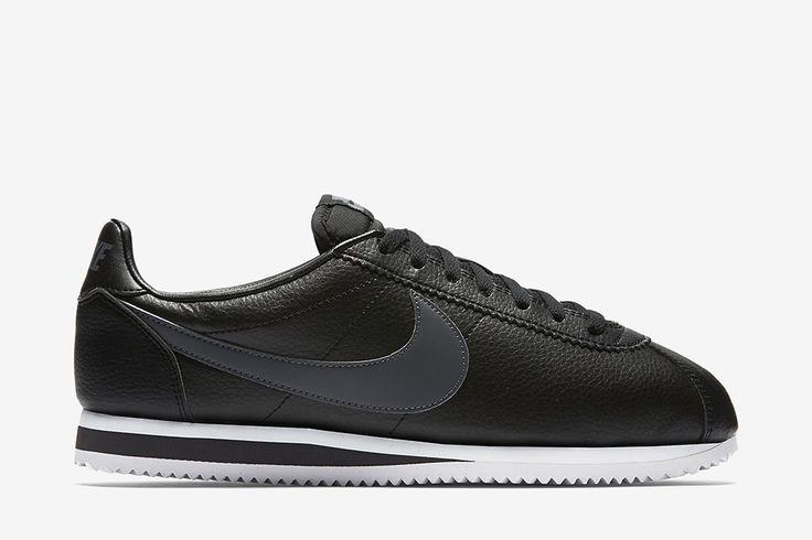 "Nike Classic Cortez Leather ""Black/Dark Grey"" - EU Kicks: Sneaker Magazine"
