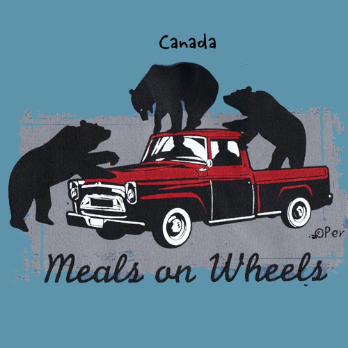 Canadian T-Shirt (Adult) - Meals on Wheels - $19.95