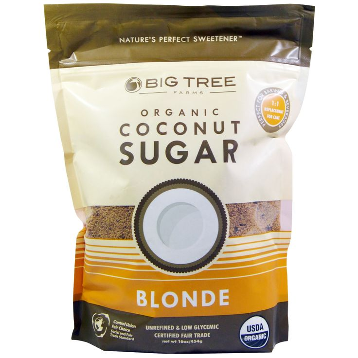 Big Tree Farms, Organic Coconut Sugar, Blonde, 16 oz (454 g)