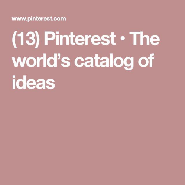 (13) Pinterest • The world's catalog of ideas