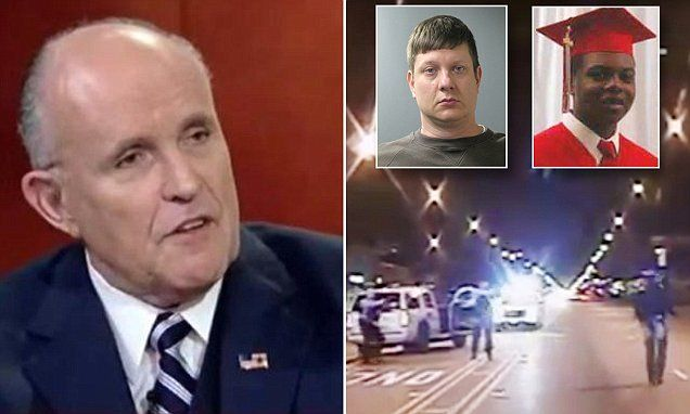 Rudy Giuliani says cop who shot teen 16 times used excessive force