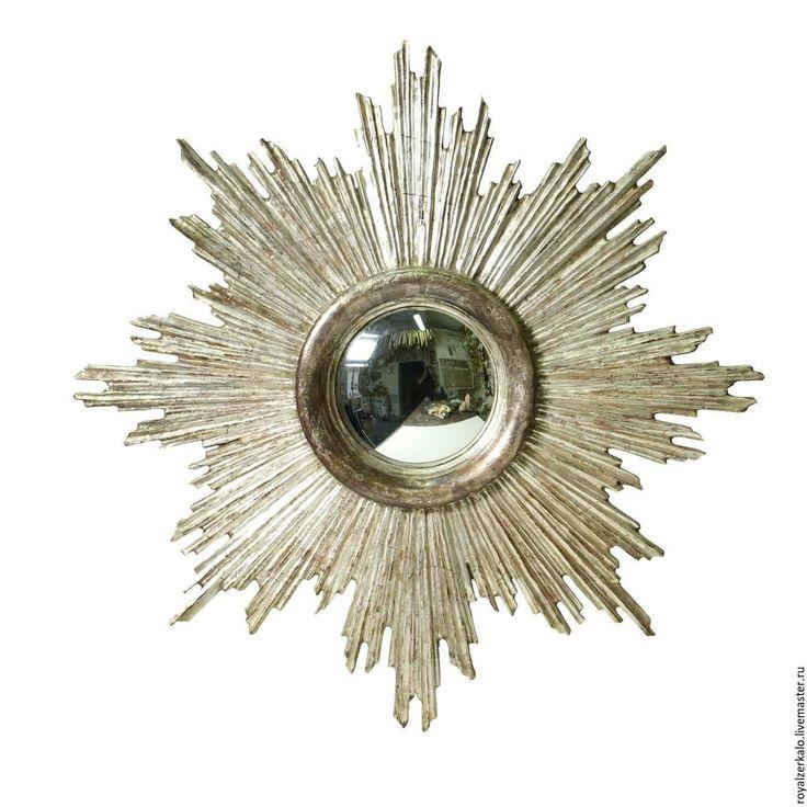 Купить Зеркало солнце Альфа Центавра - зеркало настенное, зеркало солнце, зеркало ручной работы