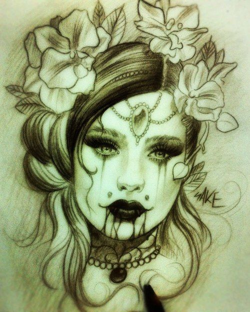 17 Best Ideas About Vampire Tattoo On Pinterest
