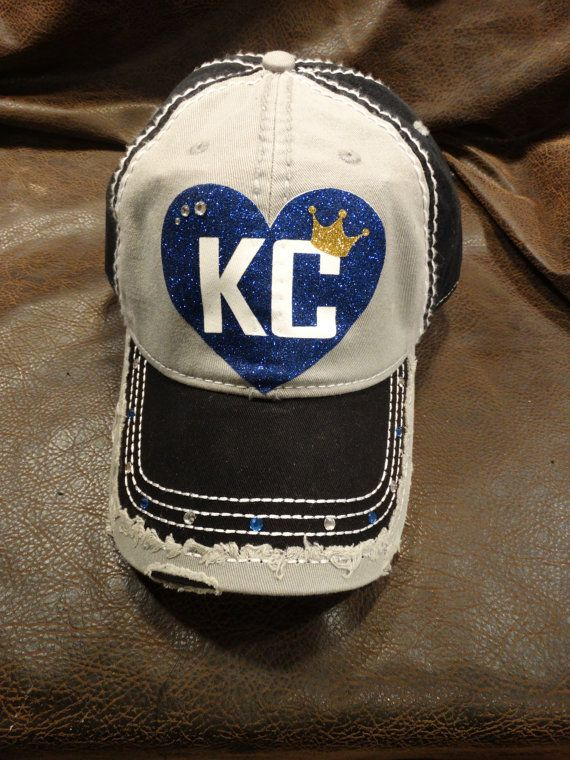 Local Pick Up Only  I heart KC Glitter hat no by BlingirlSpirit