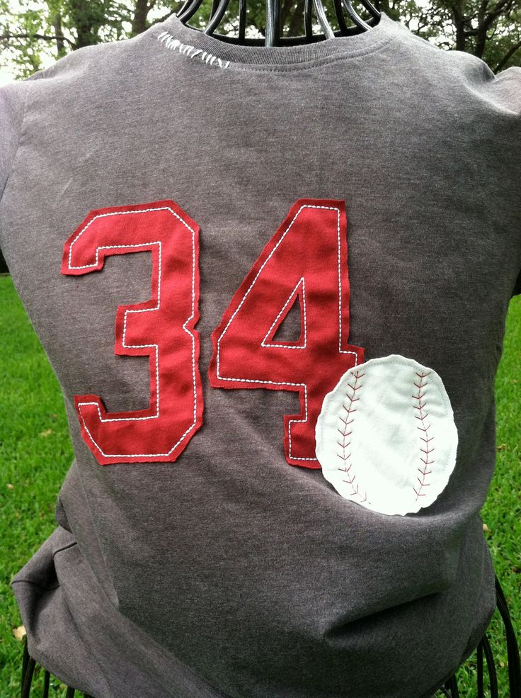 Yes......I NEED this tshirt since Dalton got to keep his number 34!!!Vintage Look Baseball T Shirt by ModernMonograms on Etsy