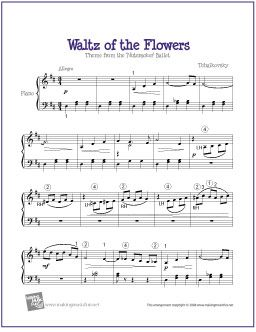 Waltz of the Flowers (Nutcracker)   Free Easy Piano Sheet Music – Tammy Noel Thomas Smith