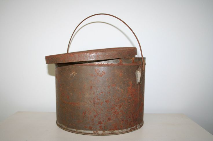 Large Tin Bucket with Lid by collective1817 on Etsy https://www.etsy.com/listing/194935323/large-tin-bucket-with-lid