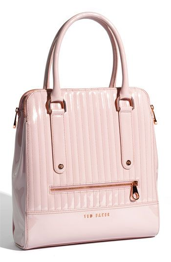 Fabulous Ted Baker London patent shopper with rose gold hardware  Lots of room and easy to access everything you need.   Got it at Nordstroms