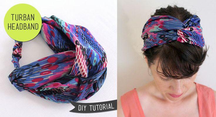 Trashion: DIY turban headband tutorial
