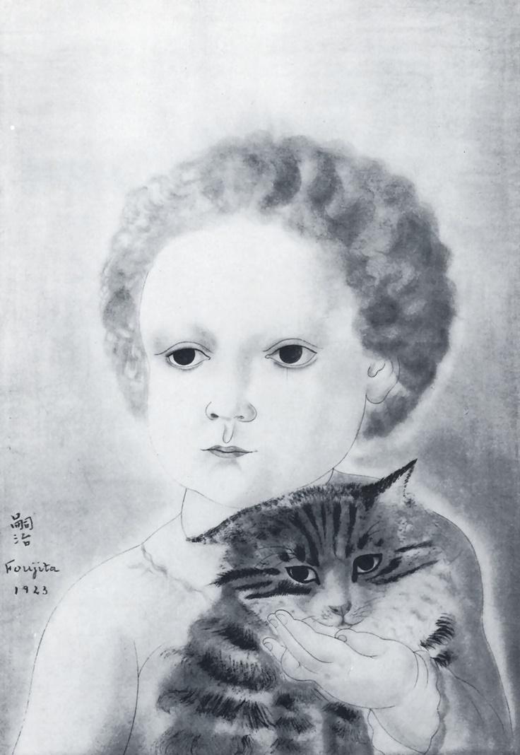 Child and Cat, 1923 by Tsuguharu Foujita
