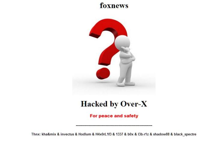 Fox News Tiawan still defaced