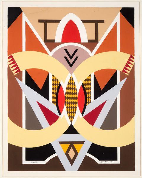 Auguste HERBIN Composition architecturale,1921- Musée Matisse