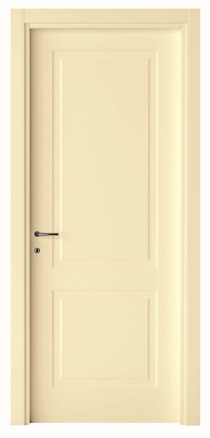 Two Panel Interior Door Painted Cream