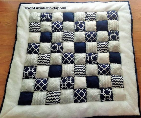 Bubble Quilt Puff Quilt Biscuit Quilt for Baby Floor by LuvinKatie