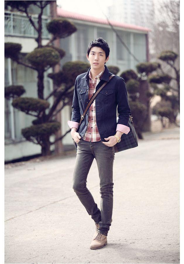 Meily Hombre - Casual Casaca Moda Coreana-hb073 - S/. 109,00 en MercadoLibre