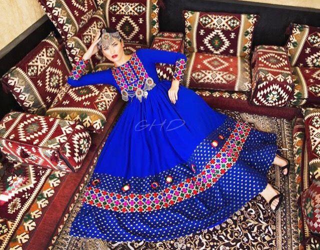 #blue  #afghani #dress #style #afghan #jewelry