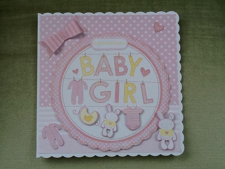 Kanban card stock used. Card I made for Matthews nee baby 2014.