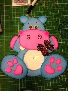 toys - Reciclagem divertida e artesanato: Porta Retrato Hipopotamo
