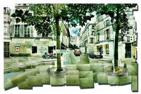 Street View photomontage