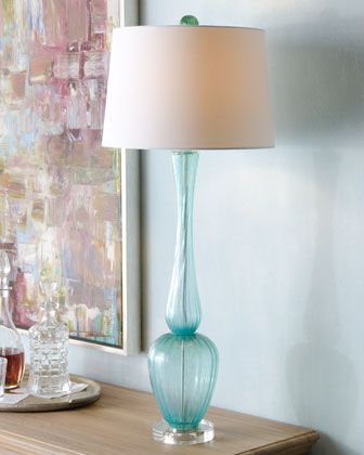 Turquoise Buffet Lamp At Horchow