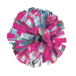 In-stock 2 Color Holographic Mix Cheerleading Pom Poms