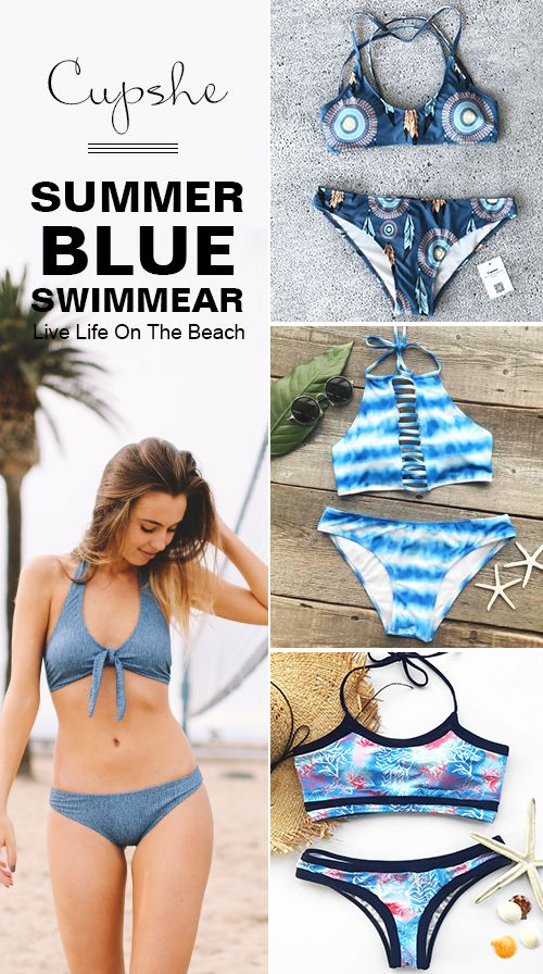 Treat Yourself to Something Special. Check the cool blue swimsuits here with low price & high-quality. Faster shipping. These flattery swimwears are chic must-have items of the year! Your perfect option for a cool beach party! Shop now.