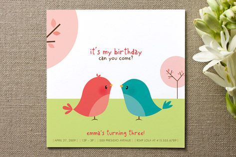 Happy Birdie to you Children's Birthday Party by guess what? at minted.com