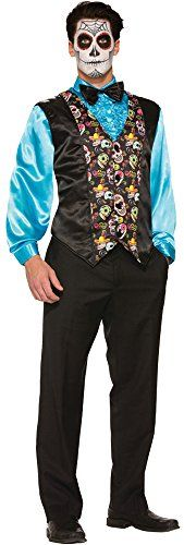UHC Mens Day Of The Dead Vest Horror Theme Party Adult Halloween Costume OS * Check out the image by visiting the link.