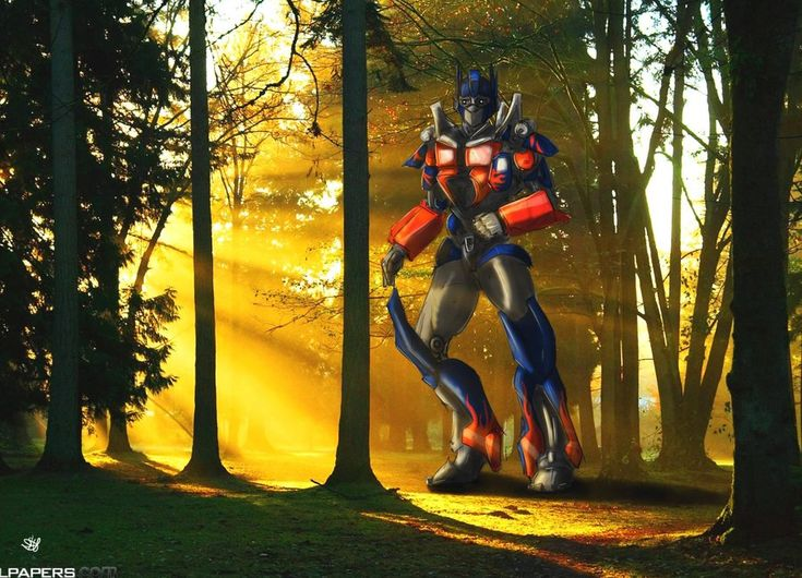 Optimus in the forset by SH-Illustration