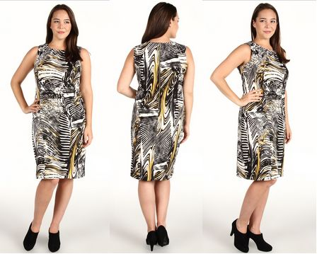 Calvin Klein Plus Size Autumn Print Ponte Shift Dress