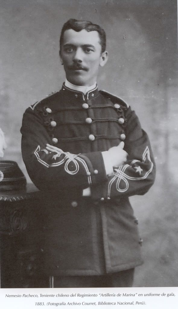 Teniente Nemesio Pacheco, Regimiento de Artillería de Marina