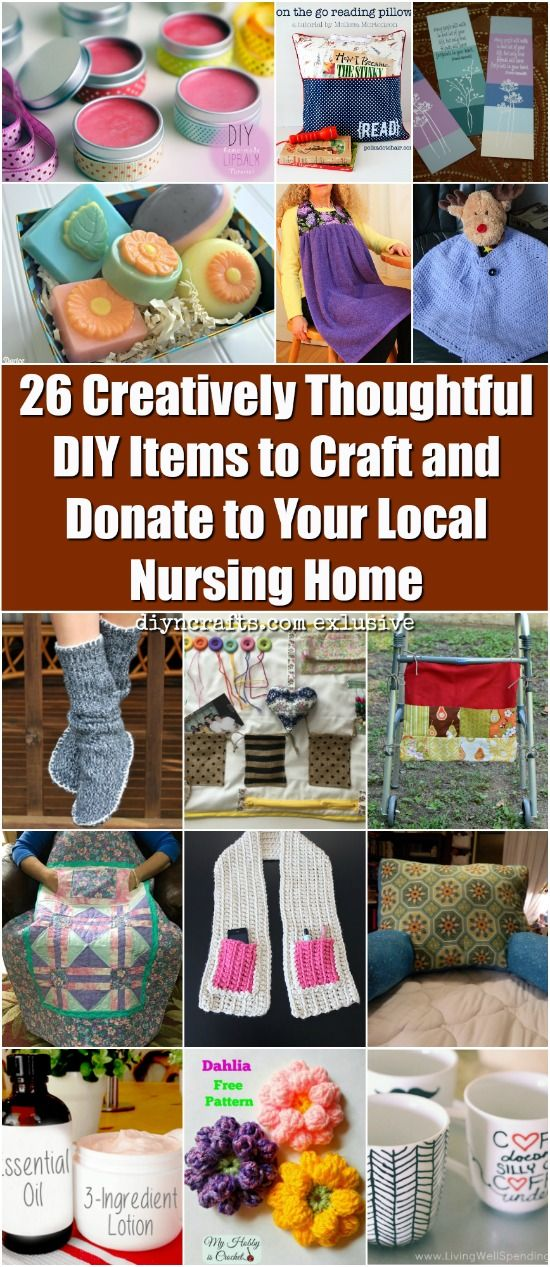 26 Creative Thoughtful DIY Items to Craft and Donate to Your Local Nursing Home - Ideally, none of us would ever have to go to a nursing home to live out the final months or years of our lives. We would be able to spend that time at home surrounded by the people we love. But that does not mean that there cannot be some beauty, fun, and joy during a difficult time. Your gifts of DIY handcrafted donations can brighten up your local nursing home, bringing delight to the hearts of the elderly…