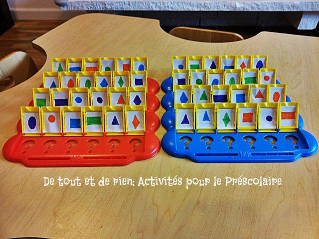 De tout et de rien: Activités pour le Préscolaire: language mathématique