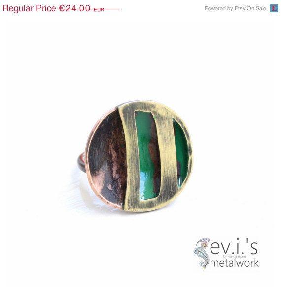 On Sale Round Stripes Black Green Half Sphere by evismetalwork, €20.40