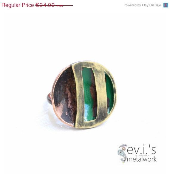 On Sale Round Stripes Black Green Half Sphere by evismetalwork, €20.40