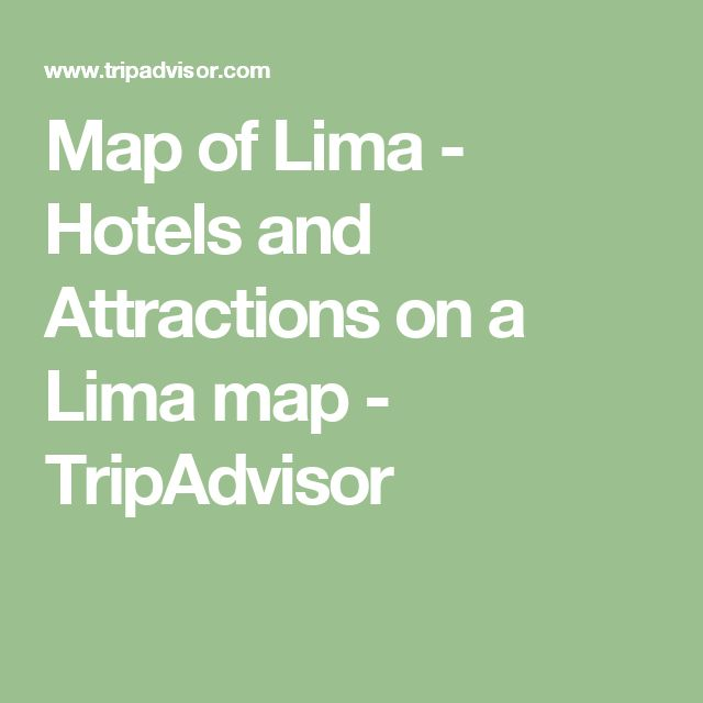 Map of Lima - Hotels and Attractions on a Lima map - TripAdvisor