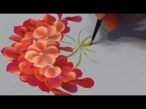One stroke begonia двойной мазок ( бегония) - YouTube ༺✿ƬⱤღ  http://www.pinterest.com/teretegui/✿༻