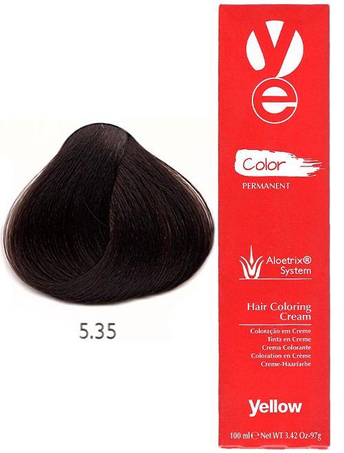 Alfaparf Yellow Hair Color Light Golden Mahogany Brown 5 35 Yellow Hair Color Light Hair Color Ash Hair Color