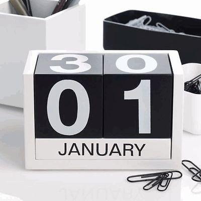Perpetual Calendar - Black - Design Ideas Three Six Five
