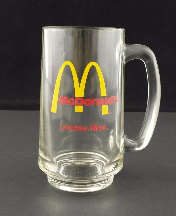 McDonald's London Blvd Glass Mug Portsmouth Virginia Location Special Ed #McDonaldsLibby