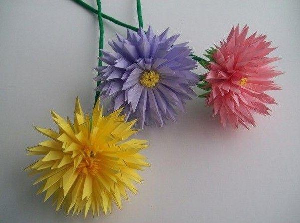 DIY Paper Asters Flower