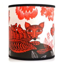 Fox & Cubs Lampshade