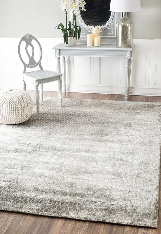 Continue The Palette With Your Rug In Dining Room Were Loving This Abstract Grey Area