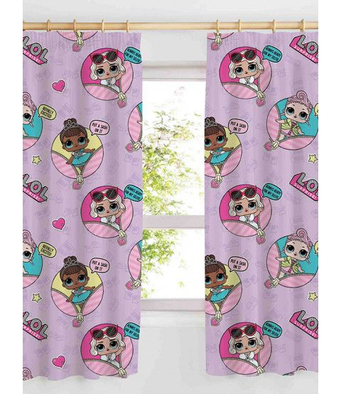 "LOL Surprise Glam Curtains 72 ""Tropfen   – Madison Bedroom"