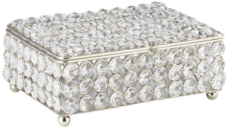 Cristalis Rectangular Crystal 8-Inch-W Jewelry Box #interior_design #home_accessories See more http://www.eurostylelighting.com/home+accessories-category/search.htm