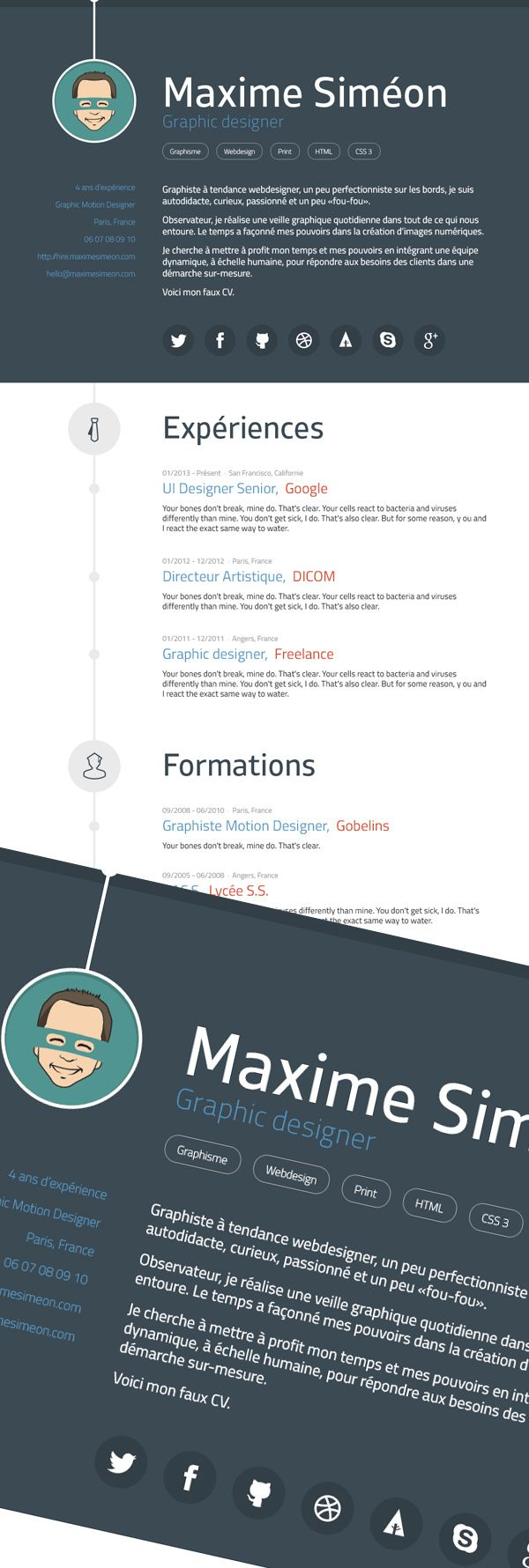 Free Modern Graphic Design Resume Template coverletter