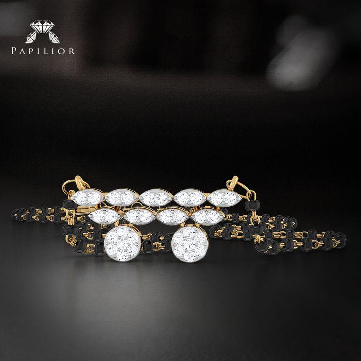 Sparkle from every angle. #diamond #mangalsutra  #diamondmangalsutra #goldmangalsutra #diamondjewelry #papilior #diamondmangalsutraonline #mangalsutradesigns