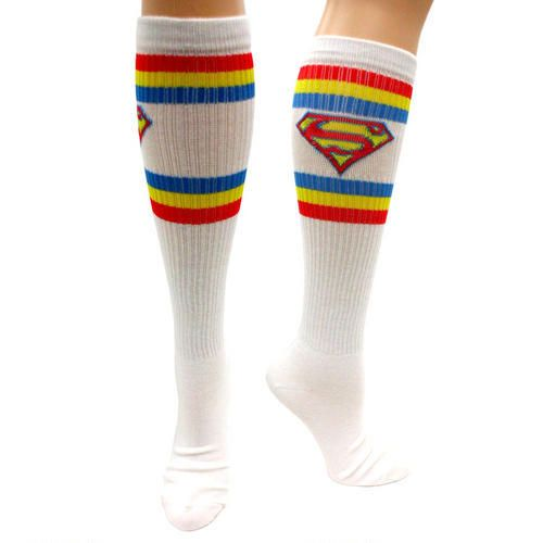 One of my favorite discoveries at ShopDCEntertainment.com: Superman Knee High Socks